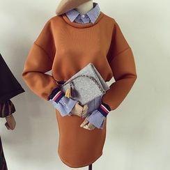Honeydew - 套裝: 假兩件上衣 + 短裙