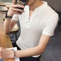 Jazzcool - V领短袖T恤