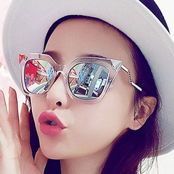 Sunny Eyewear - Oversized Mirrored Sunglasses