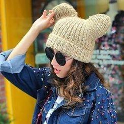 貴倫美 - 耳朵裝飾無邊帽