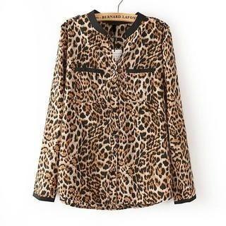 JVL - Leopard-Print Blouse
