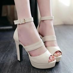 Sidewalk - Ankle-Strap Heel Sandals