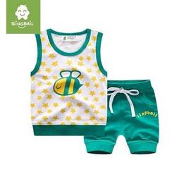 Endymion - Kids Set: Bee Print Tank Top + Shorts