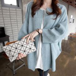 Qimi - 蝙蝠袖拉链针织外套