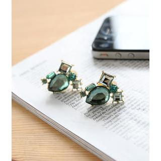 Petit et Belle - Mixed Jewel Clip-On Earrings