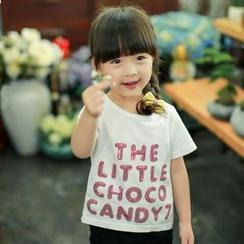 柠檬嘟嘟 - 小童短袖字母 T 恤