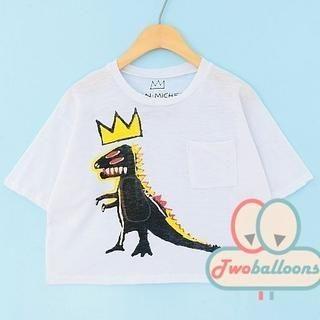 JVL - Dinosaur-Print T-Shirt