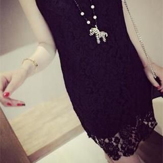 DreamyShow - Sleeveless Lace Dress