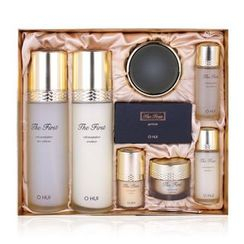 O HUI - The First Cell Revolution Set A : Skin Softener 150ml + 20ml + Emulsion 120ml + 20ml + Cream Soft 25ml + Eye Cream 5ml + Essence 5ml +  Geniture 2pcs
