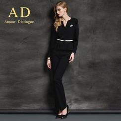 艾尚臣 - 套裝: 荷葉邊西裝 + 鉛筆裙/西褲