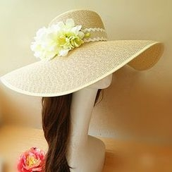 Sunset Hours - Floral Straw Hat