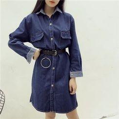 Octavia - Long-Sleeve Denim Shirt Dress
