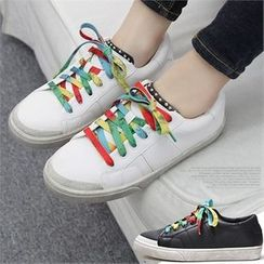 Reneve - Rainbow Lace-Up Faux-Leather Sneakers