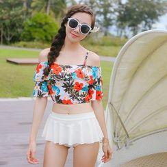 Beach Date - Floral Tankini / Beach Shorts