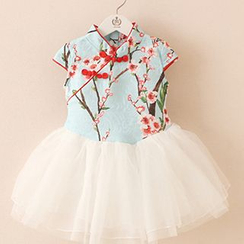Debii - Kids Short-Sleeve Floral Dress