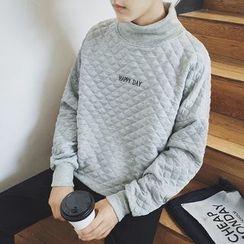 JORZ - High Neck Quilted Sweatshirt