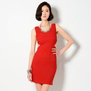 YesStyle Z - Cutout Detail Sleeveless Dress