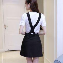 Imogen - Cross Back Pinafore Dress