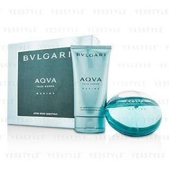 Bvlgari - Aqva Pour Homme Marine Coffret: Eau De Toilette Spray 100ml/3.4oz + Shampoo and Shower Gel 150ml/5oz