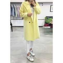 OZNARA - Wool  Blend Double-Breasted Coat