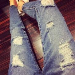 Angel Shine - Distressed Jeans