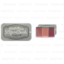 Skinfood - Fresh Fruit Lip and Cheek Trio (#06 Plum)