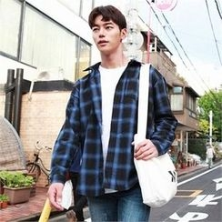 BYMONO - Pocket-Front Plaid Shirt