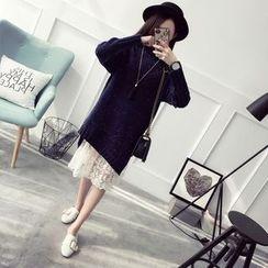 Qimi - 开衩长款毛衣