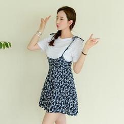 Koo - Floral Print Jumper Skirt