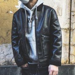 Milioner - Fleece Lined Faux Leather Jacket