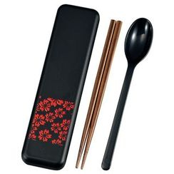 Hakoya - Hakoya Spoon & Chopsticks Set Sakurako Red