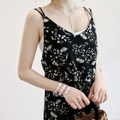 NANING9 - Strappy Floral A-Line Dress