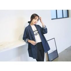Envy Look - Open-Front Denim Jacket