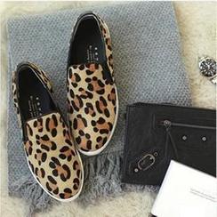 BAYO - 豹紋圖案平底輕便鞋