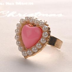 Fit-to-Kill - Pearl Edge Heart-Shaped Ring