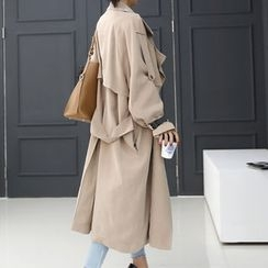 DANI LOVE - Belt-Trim Loose-Fit Trench Coat