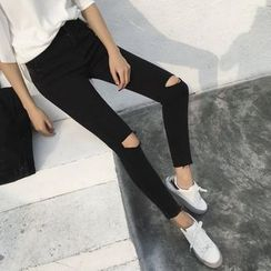 Dute - 羅紋窄身牛仔褲