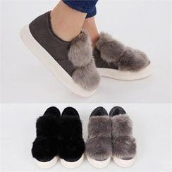 PINKSISLY - Faux-Fur Lined Slip-Ons