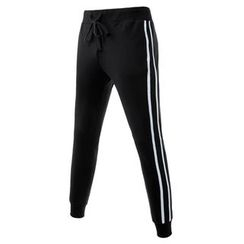 TheLees - Stripe-Trim Sweat Pants
