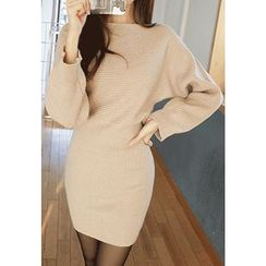 MyFiona - Boat-Neck Batwing-Sleeve Knit Dress