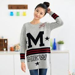 59 Seconds - 'M' Print Long Sweater