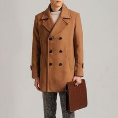 DANGOON - Wide-Collar Double-Breasted Coat