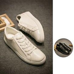 除一 - 纯色系带休閒鞋