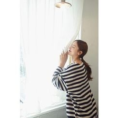 CHERRYKOKO - Drop-Shoulder Stripe T-Shirt