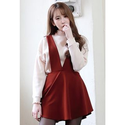 Dalkong - Flare Mini Pinafore Dress