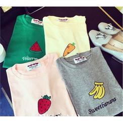 YOSH - Printed Short-Sleeve T-shirt