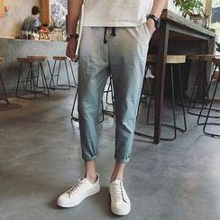 JUN.LEE - Gradient Cropped Drawstring Pants