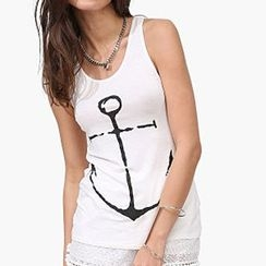 Richcoco - Anchor Printed Tank Top
