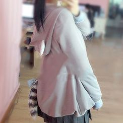 GOGO Girl - Raccoon Ear Accent Hooded Jacket