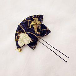 Linnet - 蝴蝶结装饰扇型发簪